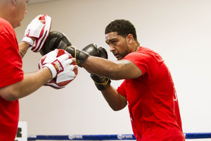 Breazeale on the pads
