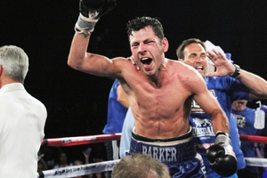 Barker celebrates victory