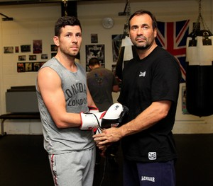 Darren Barker with trainer Tony Sims