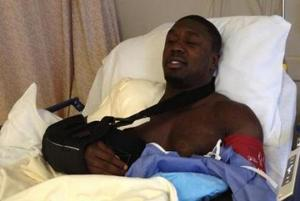 Berto relaxes after surgery
