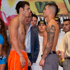 Chavez(L) was booed after decision announced
