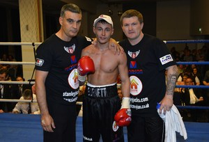 Hatton with fighter Ryan Burnett