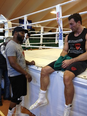 Klitchko takes a break from training