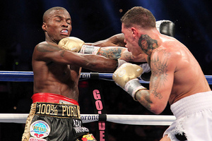 Quillin and Rosado exchange punches(Tom Casino)