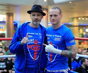 Groves and trainer Fitzpatrick