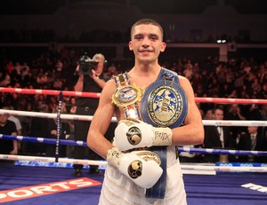 Selby shows off his belts