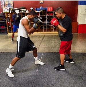 Dulorme on the pads with Garcia