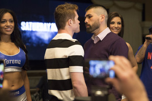 Alvarez And Angulo Arrive In Las Vegas