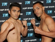 L-R: Viloria / Herrera (Photo © Mary Ann Owen - Top Rank)