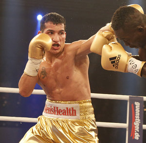 Culcay Meets Takes On Larbi on April 5 In Rostock