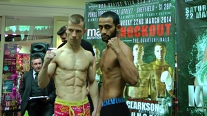Kid Galahad claims the European 122lbs title in Sheffield