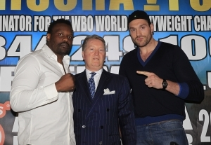 Fury Vs Chisora Heats Up  In Manchester