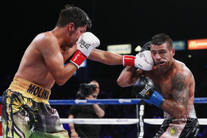 Matthysse and Molina go to war (pic Esther Lin)