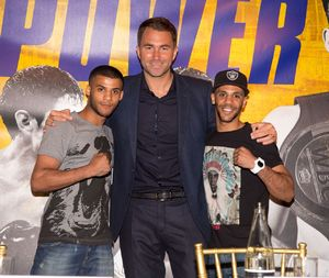 The Yafai brothers with Eddie Hearn