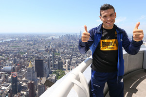 Martinez Works Out In New York