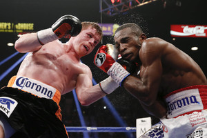 Canelo outpointed Lara.