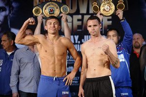 video: Golovkin And Geale Make Weight In New York