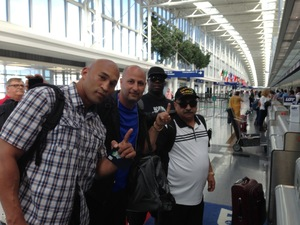 Team Oquendo at airport