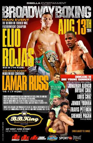 Rojas Returns On Broadway Boxing Card