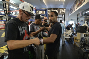 Mayweather Jr Works Out For The Media In Las Vegas