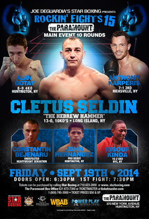Seldin Faces Gil On 'Rockin' Fight Night
