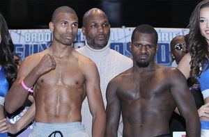 Boxers Weigh In In Brooklyn