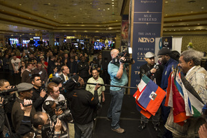 Stiverne And Wilder Arrive In Las Vegas