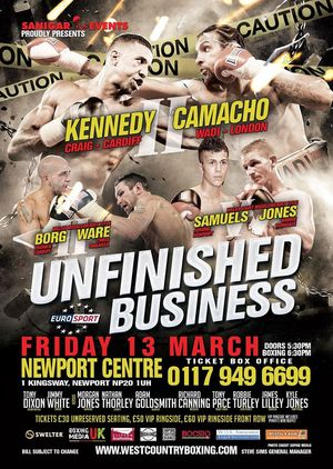 Kennady And Camacho Rematch On March 13