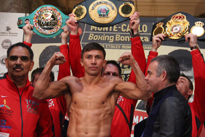 Video: Golovkin And Murray Weigh In