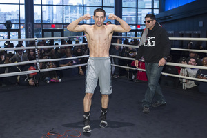 Garcia And Peterson Work Out In New York