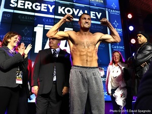 Video: Kovalev And Pascal Make Weight