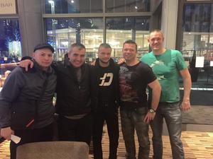 Team Dan Arrive In Sheffield