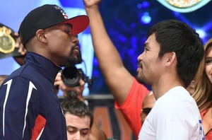 Mayweather And Pacquiao Make Weight For Record Breaking Night