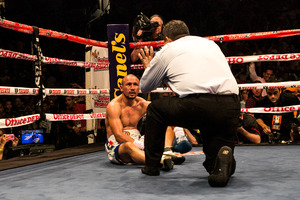 Salido goes down, but doesn't stay there.