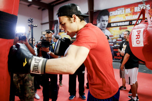 Chavez, Reyes, Frampton And Gonzalez Workout Quotes And Pics‏