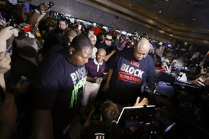 Mayweather Jr And Berto Arrive In Las Vegas