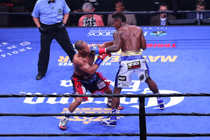 Jermall Charlo Puts Down K-9 Bundrage