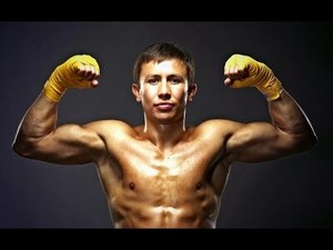 "Golovkin taunts Mayweather.""Show me I'm easy work."""