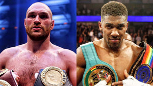 Anthony Joshua tells Tyson Fury keep praying on my downfall fat boy.