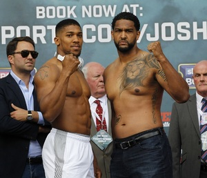 Joshua And Breazeale Weigh In