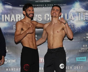 Linares And Crolla Weigh In For Rematch