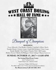 Third annual West Coast Boxing Hall of Fame sold out