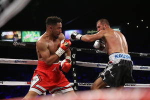 Ward stops Kovalev controversially.