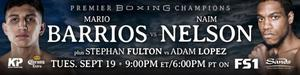 Barrios and Nelson set to clash in main event of PBC