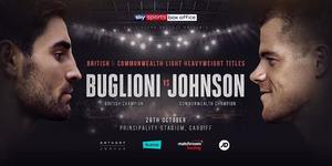 Buglioni vs Johnson for British/Commonwealth on October 28th in Cardiff