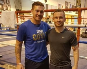 Carl Frampton links up with Jamie Moore