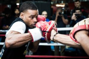 Spence Jr And Peterson Work Out In Brooklyn
