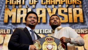 Matthysse And Pacquiao Comes Face To Face In Manila