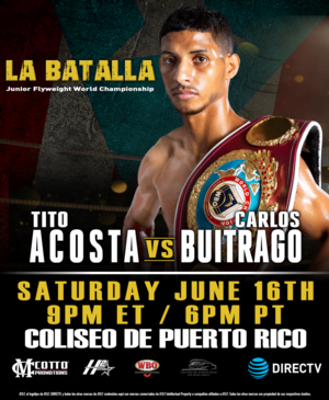 Carlos Buitrago Makes Fifth Attempt To Win World Title