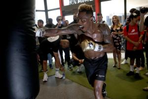 Jarmell Charlo Works Out LA